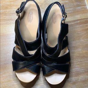 Dr. Scholl's Black Wedge Sandal - Size 8.5